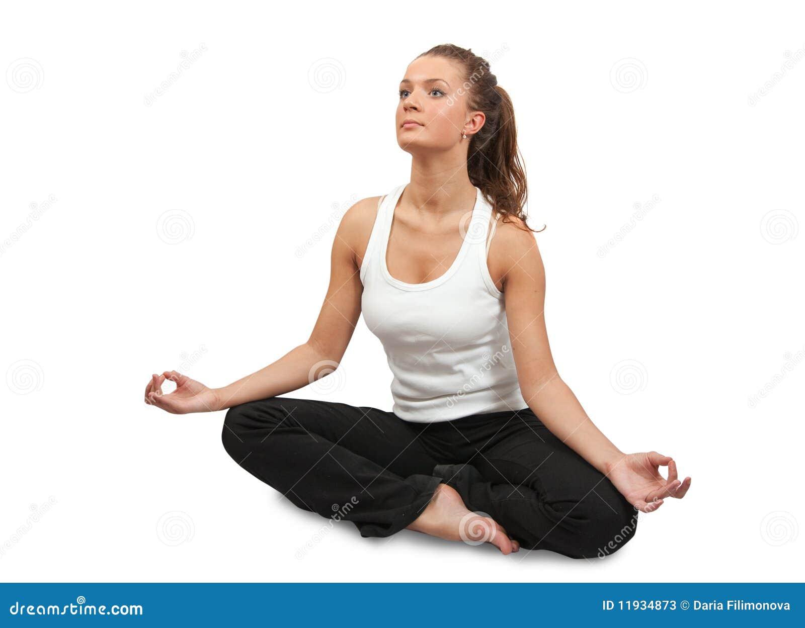 Beautiful Girl Doing Yoga. Stock Photos - Image: 11934873