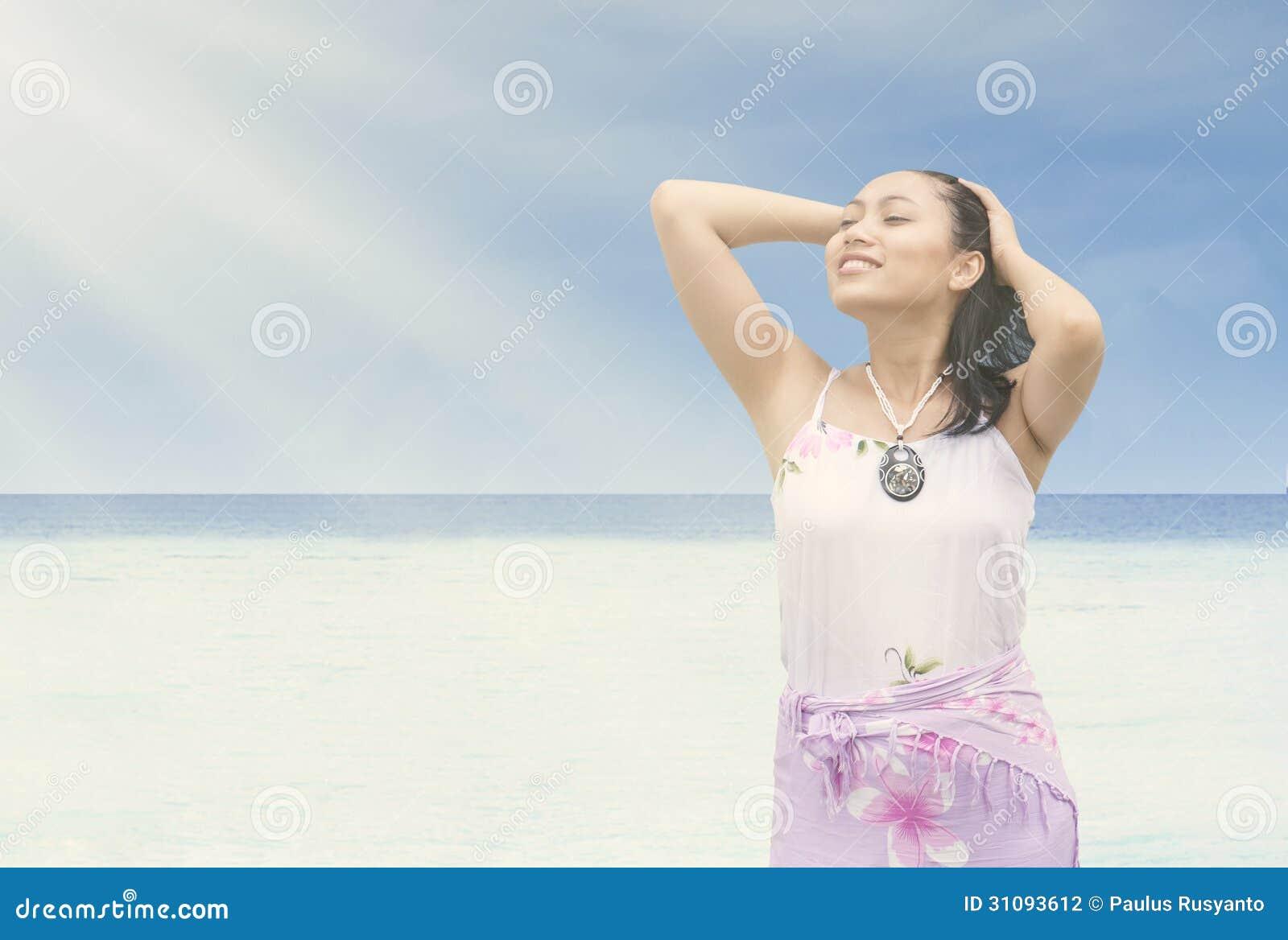coast asian woman Sunshine
