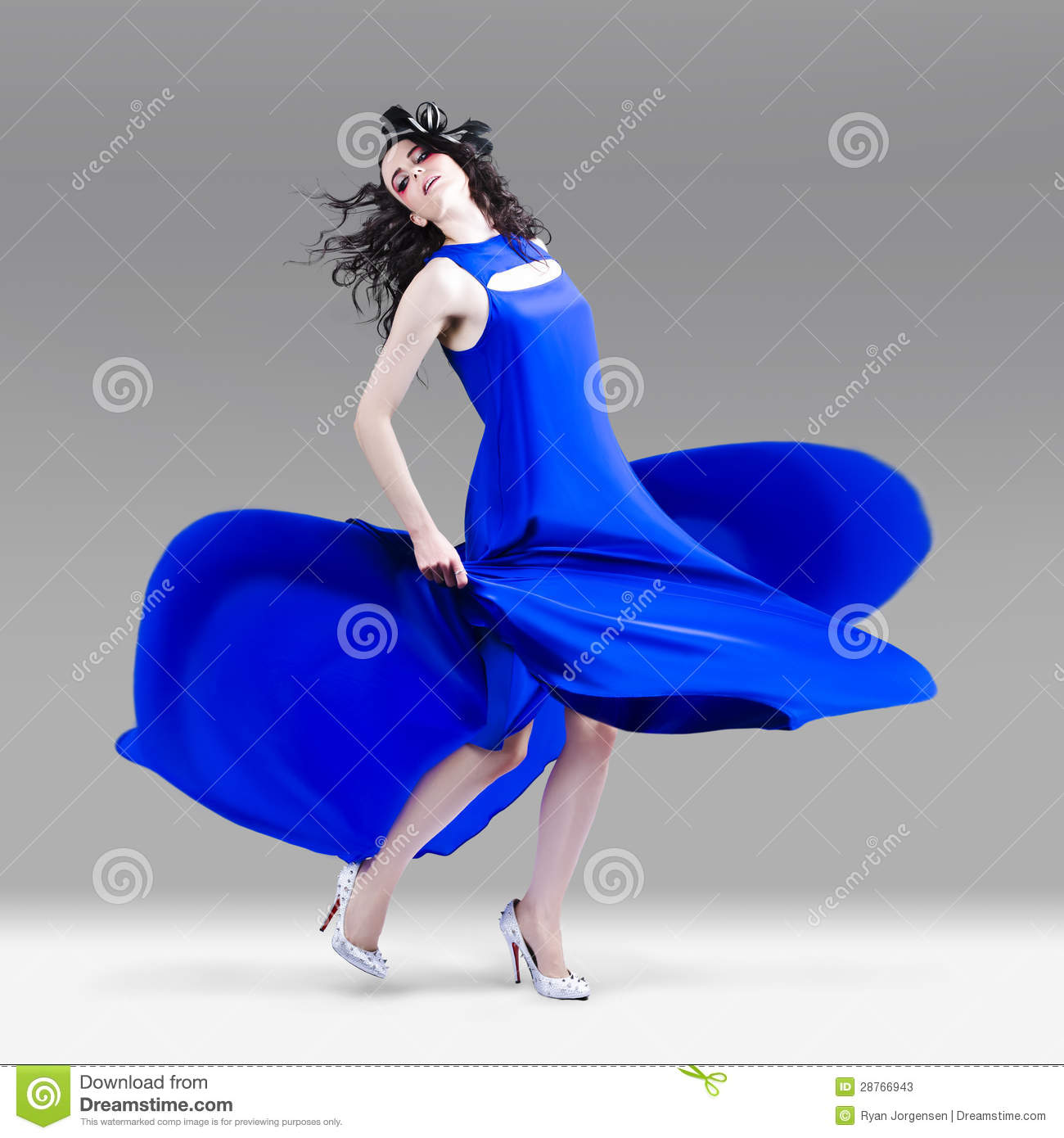 Beautiful Girl In Exquisite Fashion Style Dance Stock Image Image 28766943