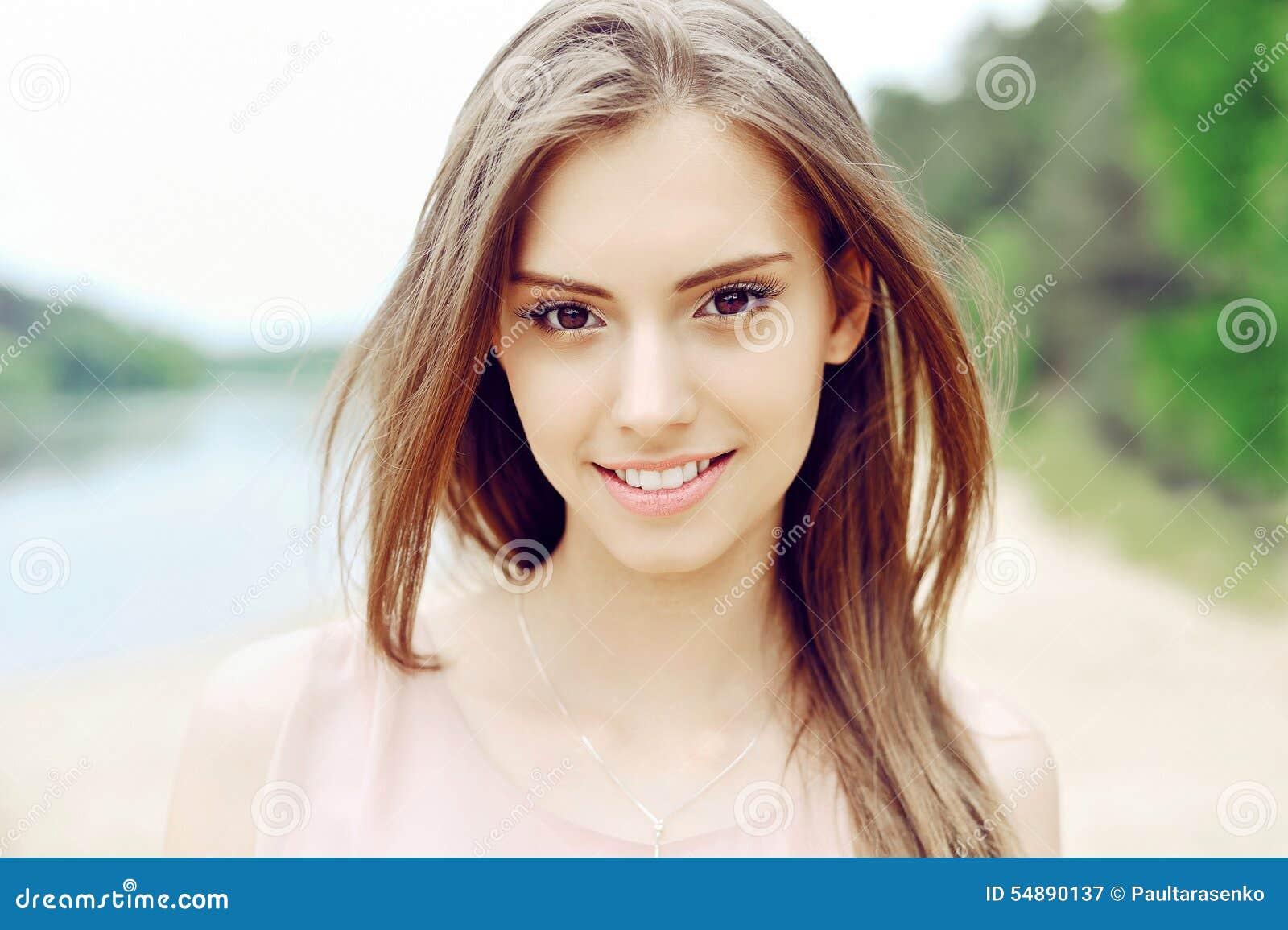 Beautiful Girl Face Perfect Clean Skin Stock Photo - Image 54890137-6368