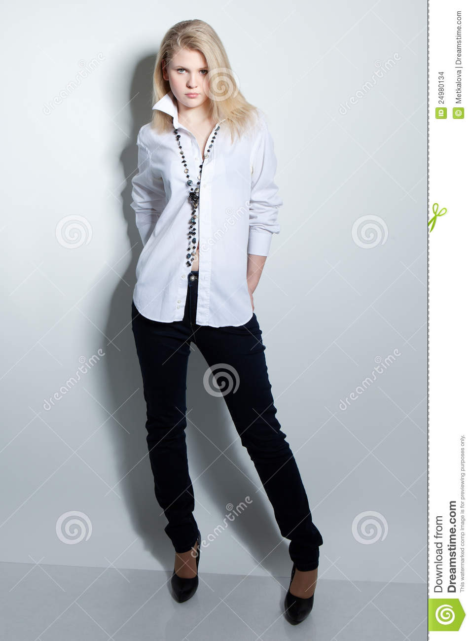 Beautiful Girl Is In Fashion Style Stock Photo Image 24980134