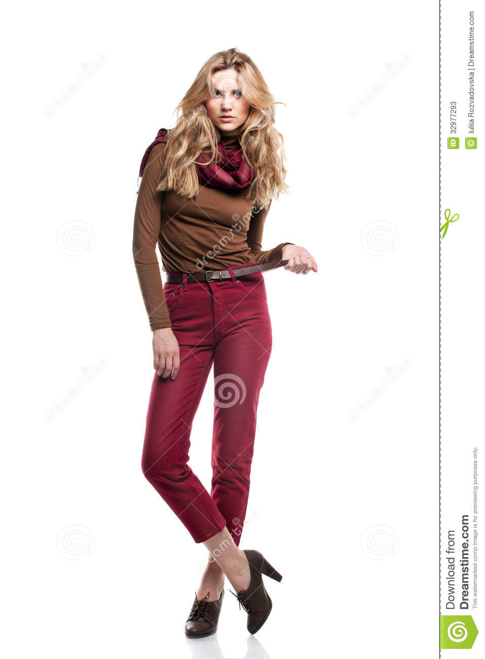 Beautiful Girl Is In Fashion Style Professional Makeup And Hair Stock Photos Image 32977293