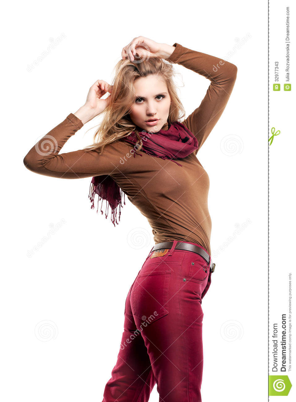 Beautiful Girl Is In Fashion Style Professional Makeup And Hair Stock Photos Image 32977343