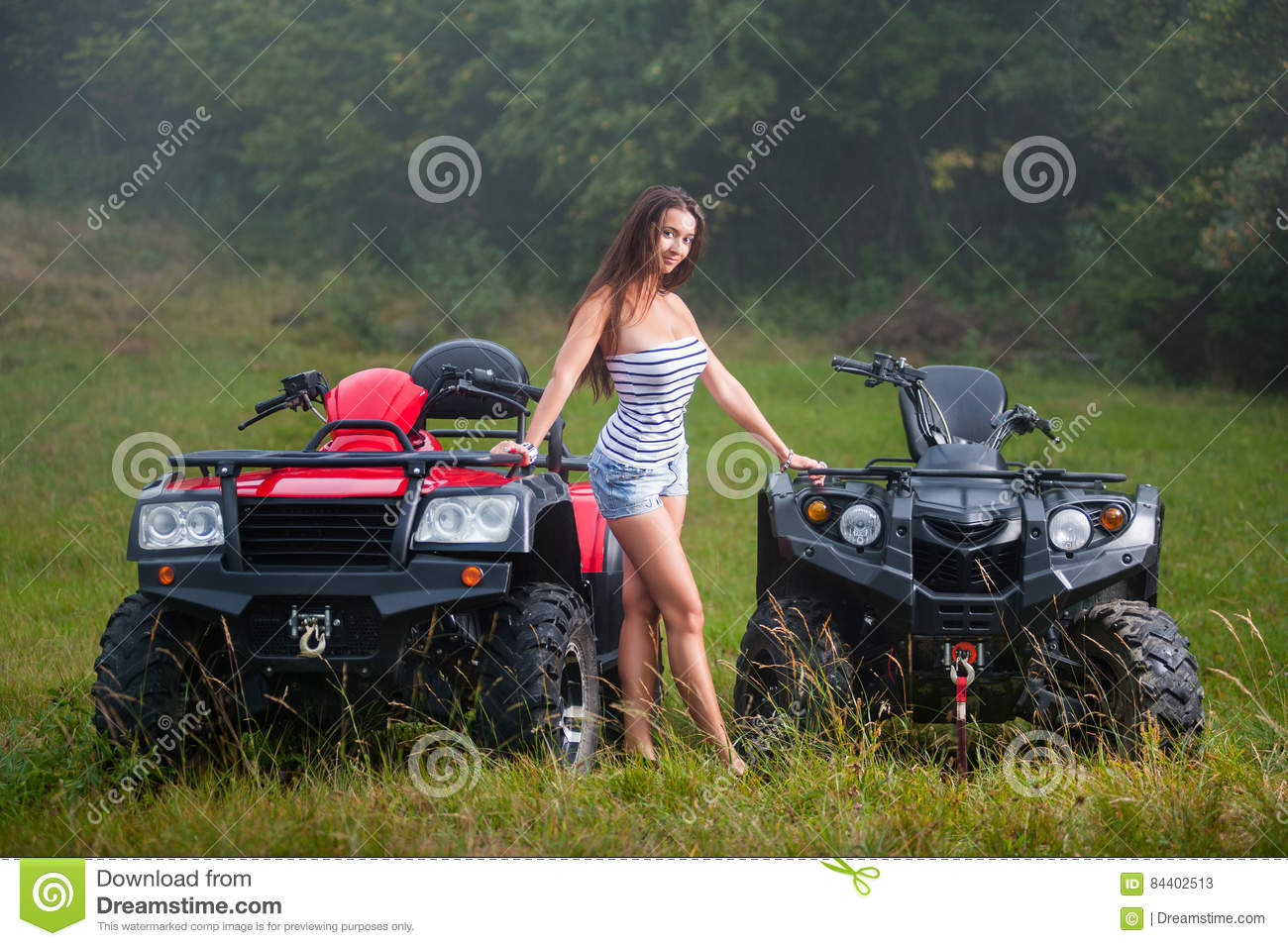 hot naked chicks on four wheelers
