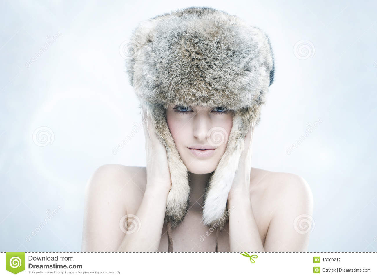 e73d26a0b7043 Beautiful Girl In A Fur Hat Stock Image - Image of natural