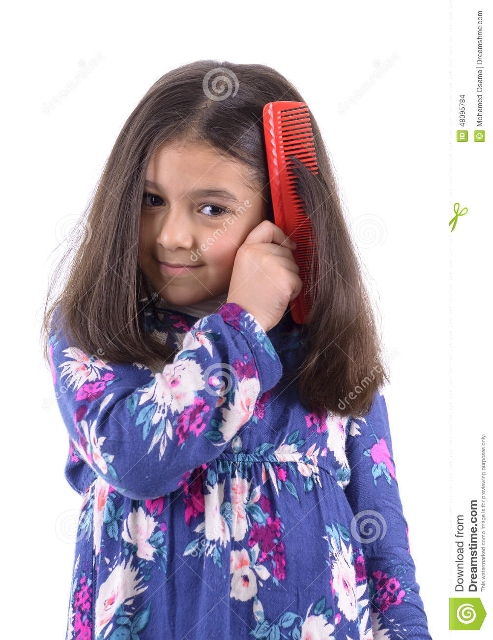 Beautiful Girl With Hair Comb