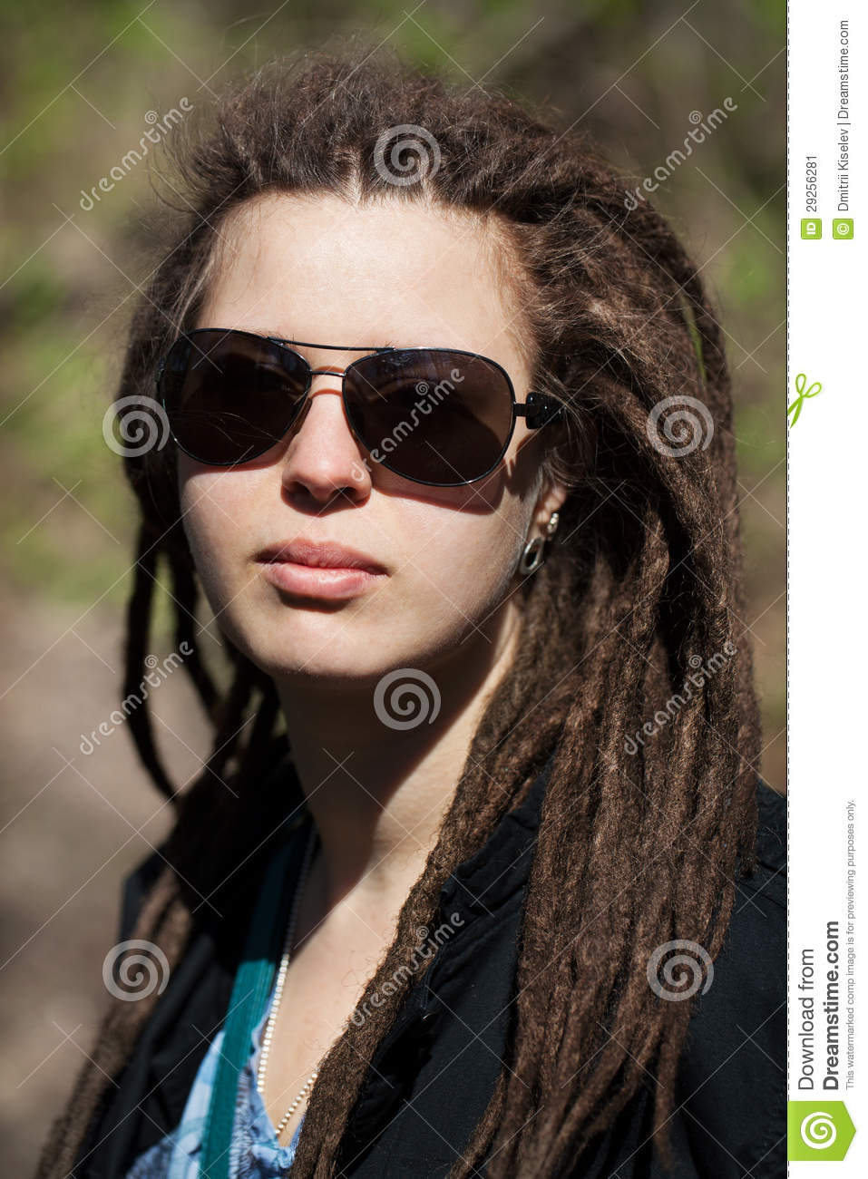 Beautiful Girl With Hair In A Dreadlocks Stock Image