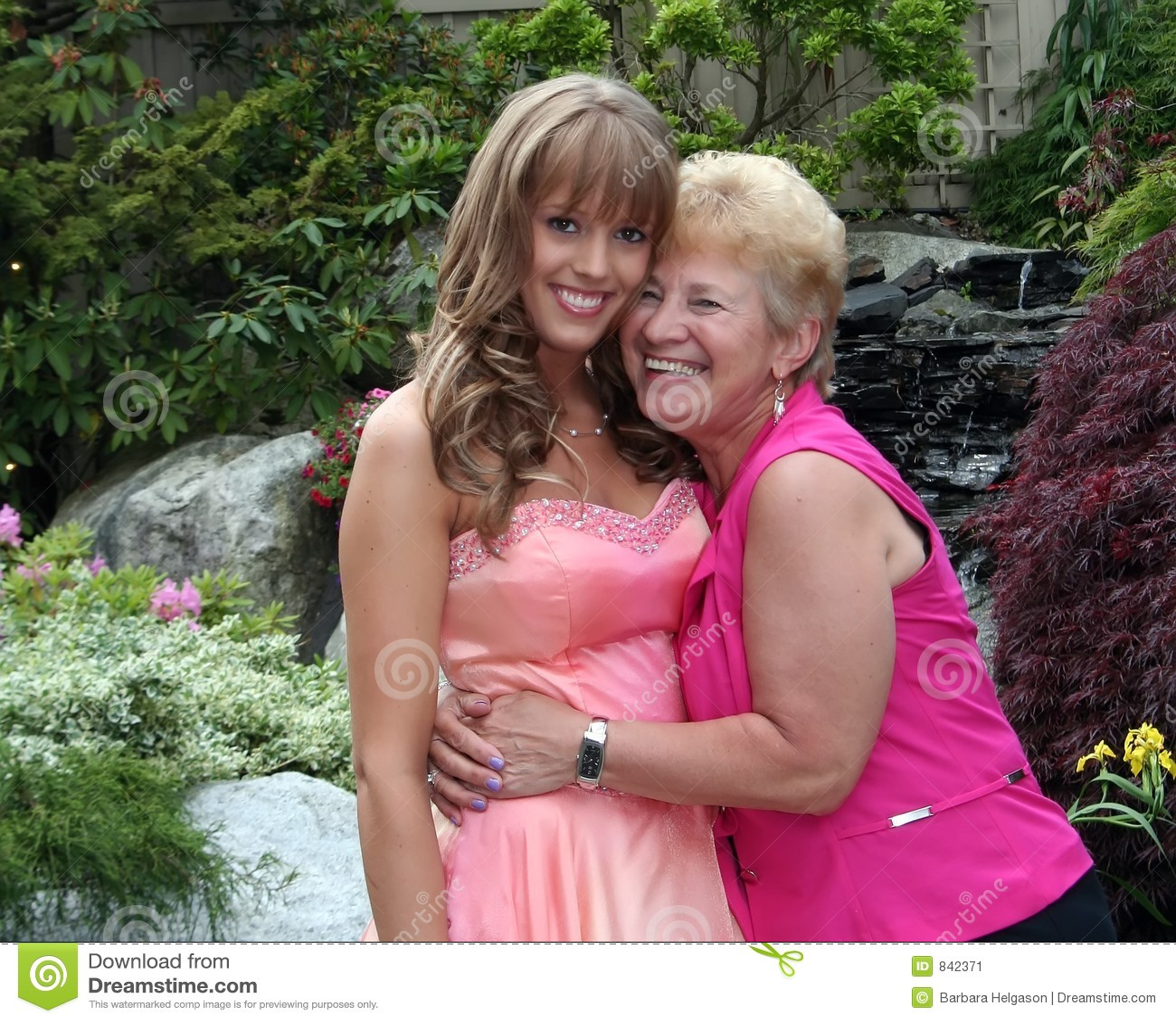 Beautiful girl and her grandmother