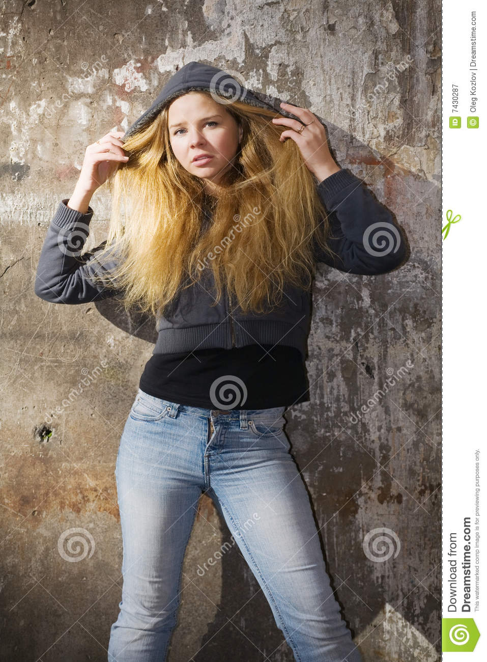 Beautiful Girl In Hood Royalty Free Stock Photography ...