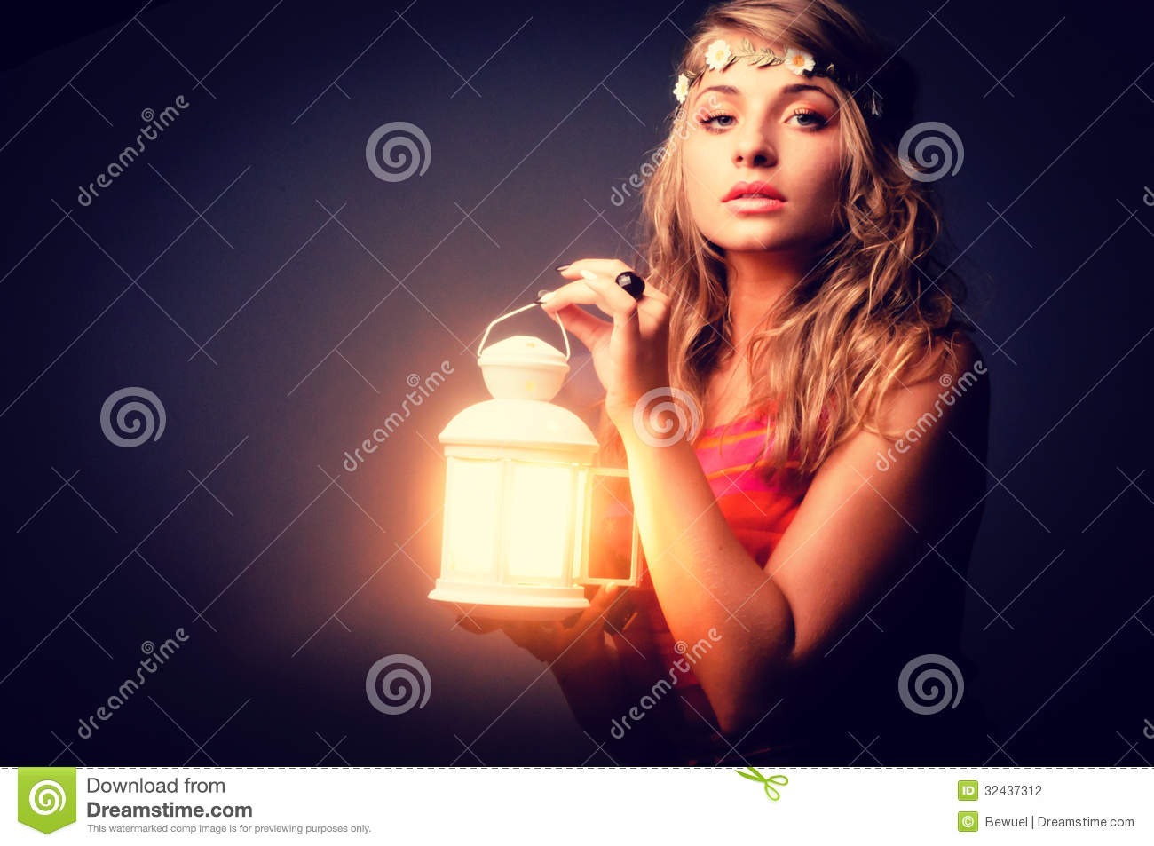 Beautiful Girl With Lantern Seeking Stock Photo - Image of looking ... for Girl Holding Lamp  75tgx
