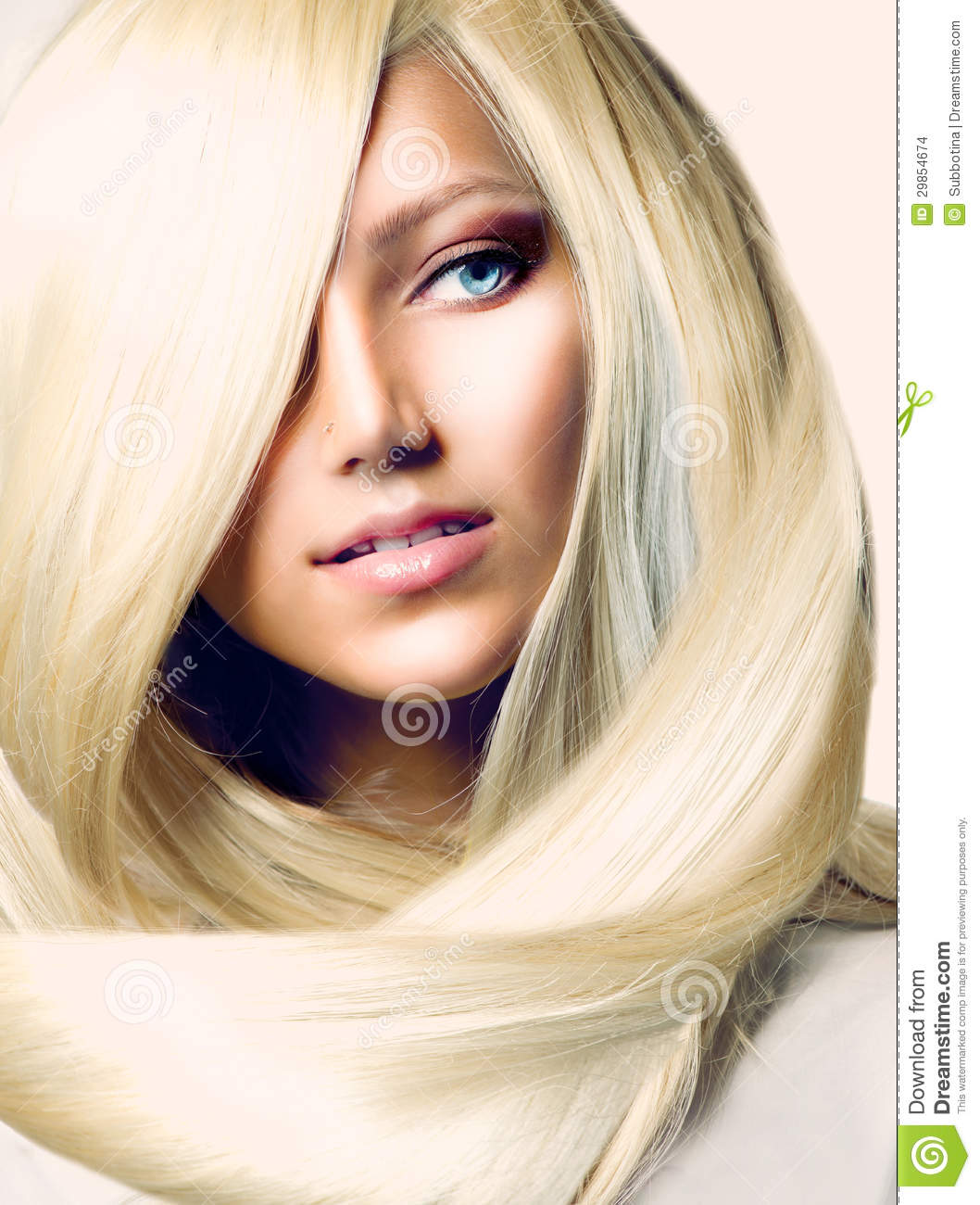 girl with long blond hair stock images   image 29854674