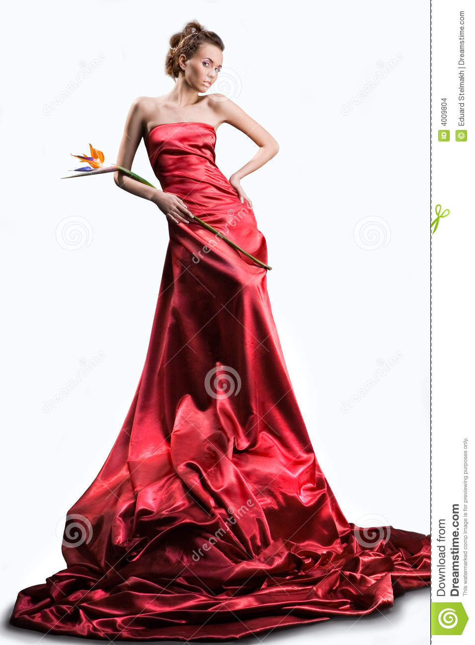 Girl s red dress
