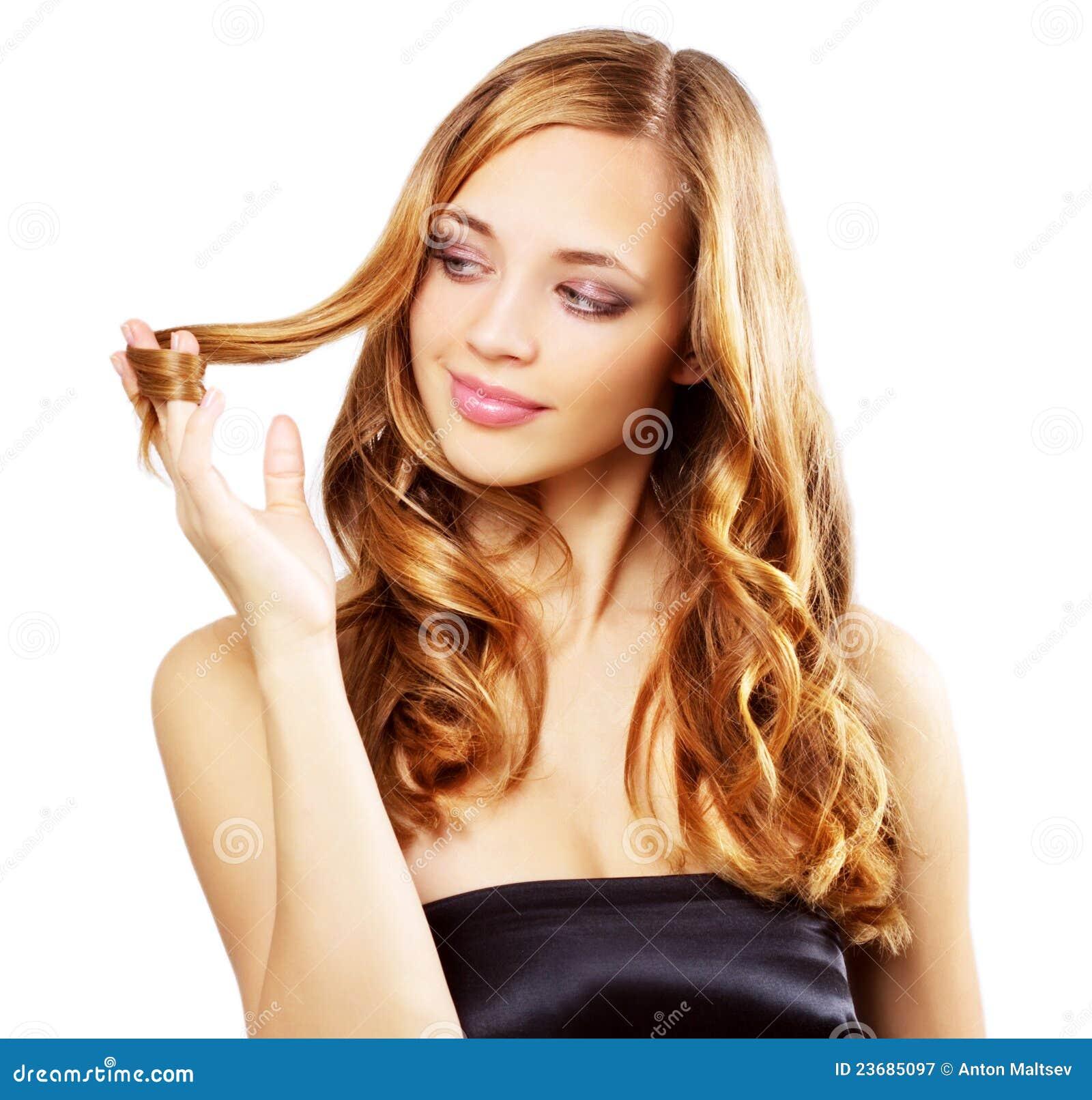 Beautiful Girl With Long Wavy Hair Stock Image Image