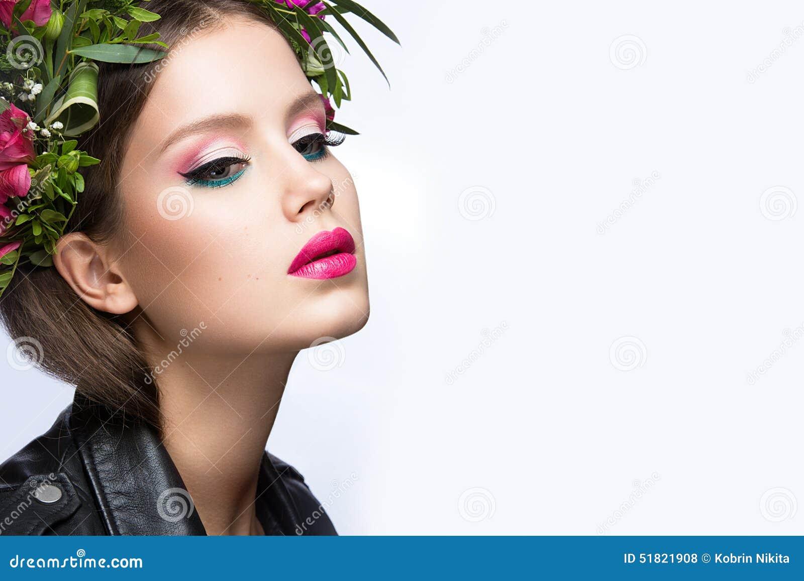 beauty girl face make - photo #23