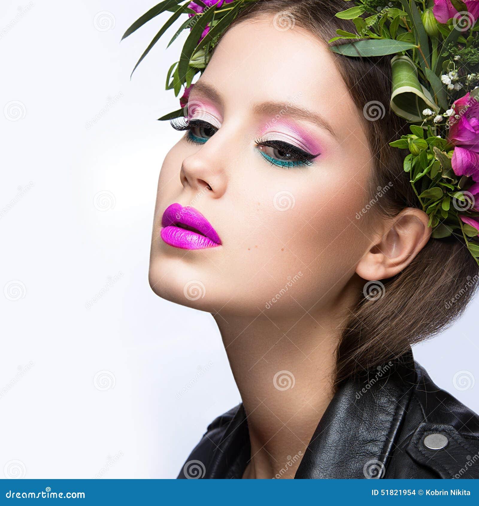 beauty girl face make - photo #22