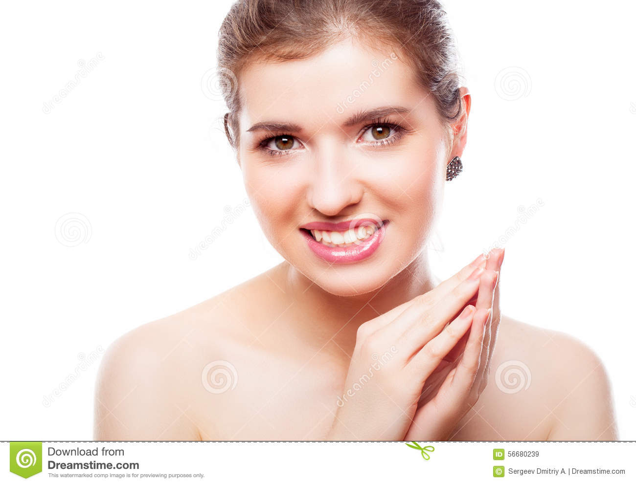 A Beautiful Girl With Make Up Stock Photo Image 56680239