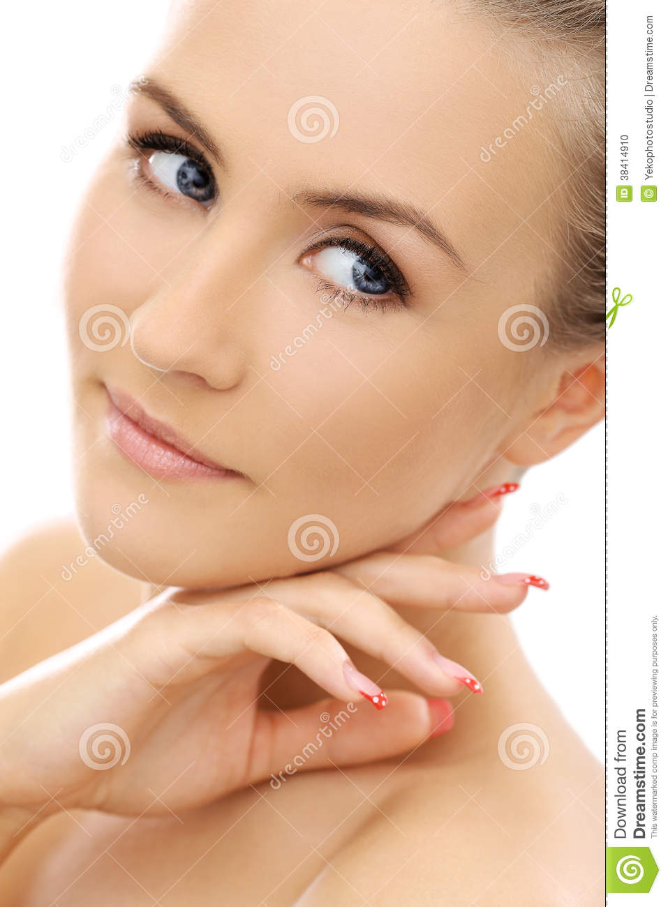 Beautiful girl with perfect face stock photo image 38414910 - Garls perpact ...