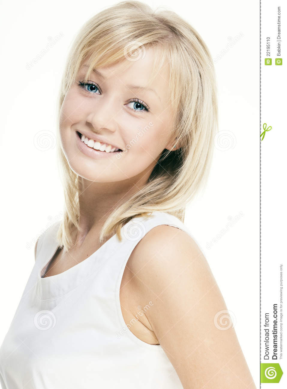 Beautiful girl with perfect skin blond hair stock photo image 22195110 - Garls perpact ...