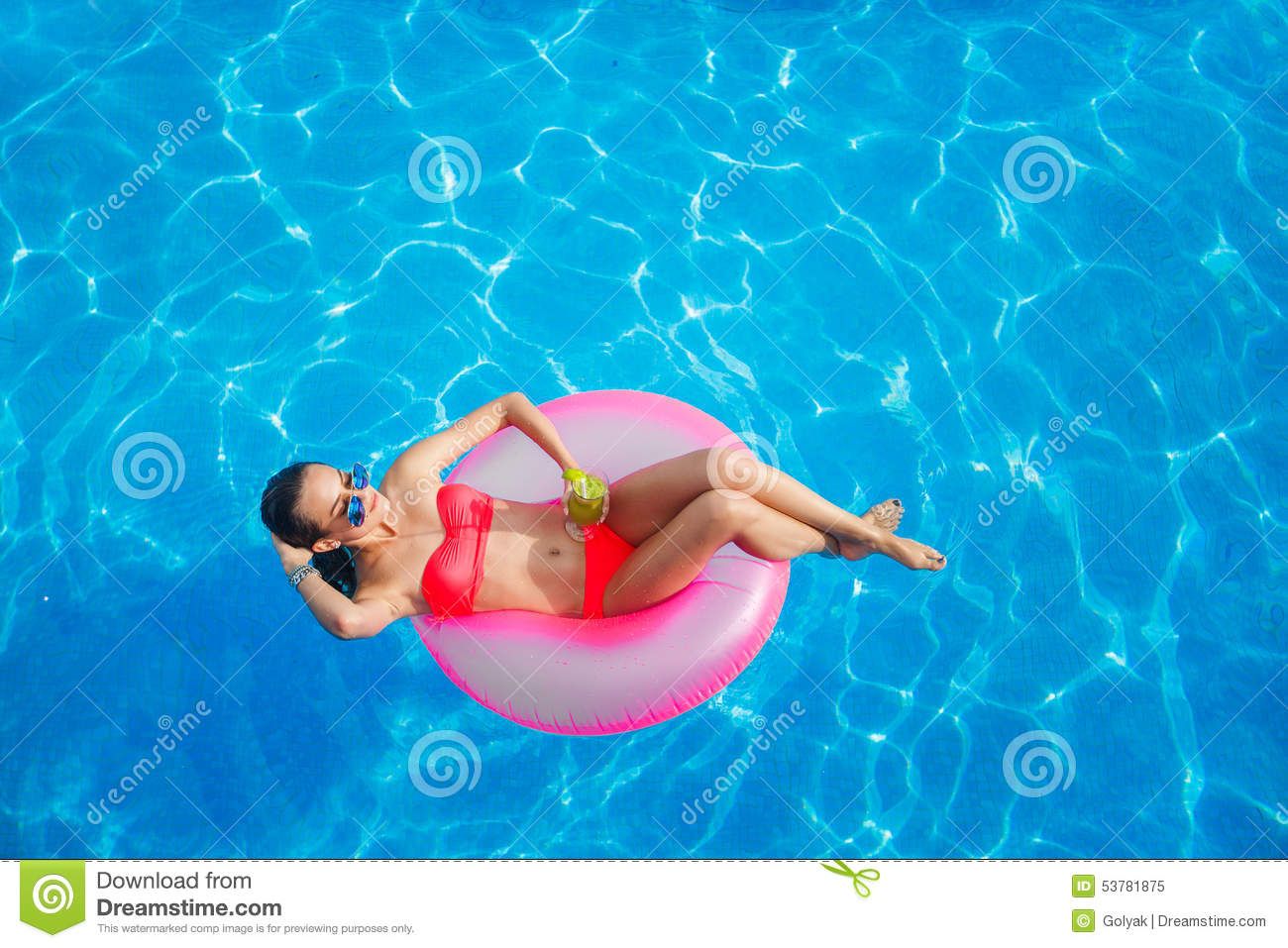 Inflatable clear inner tubes royalty free stock for Piscine a tube
