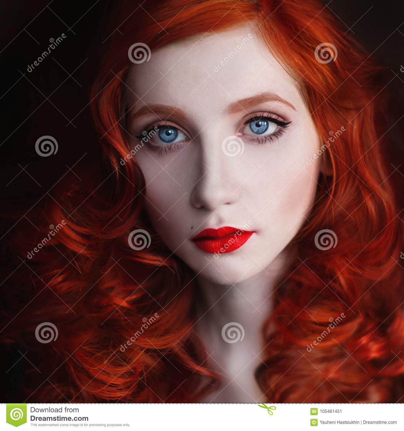 Beautiful Girl With Red Hair Stock Image Image Of Model