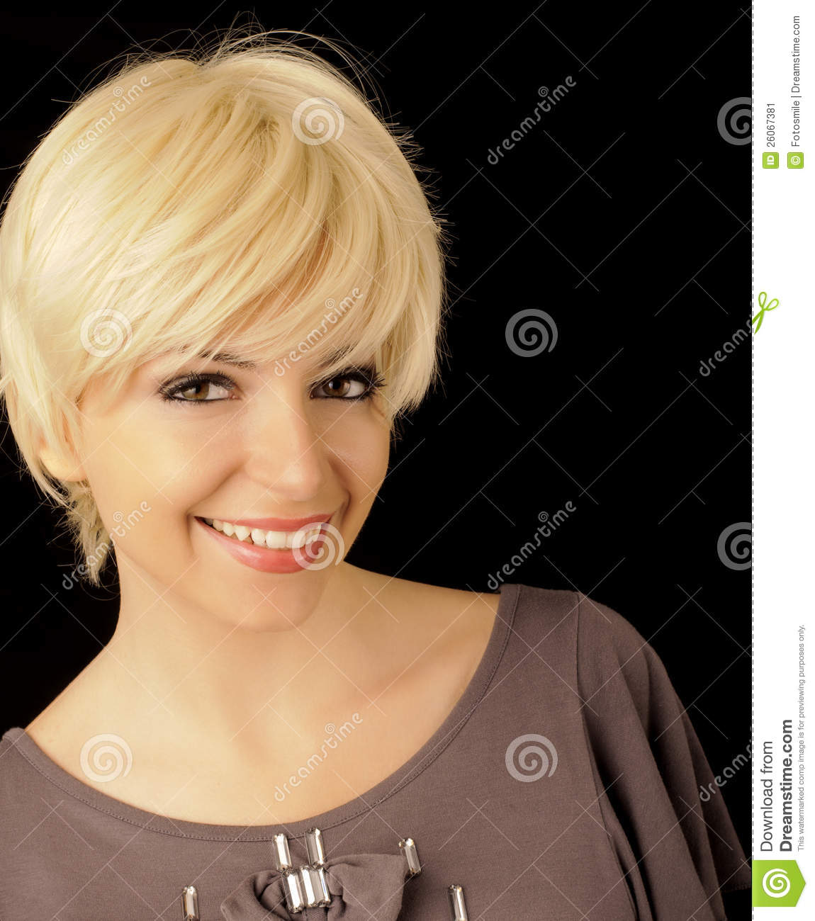 Beautiful Girl With Short Hair Stock Image - Image 26067381-8061