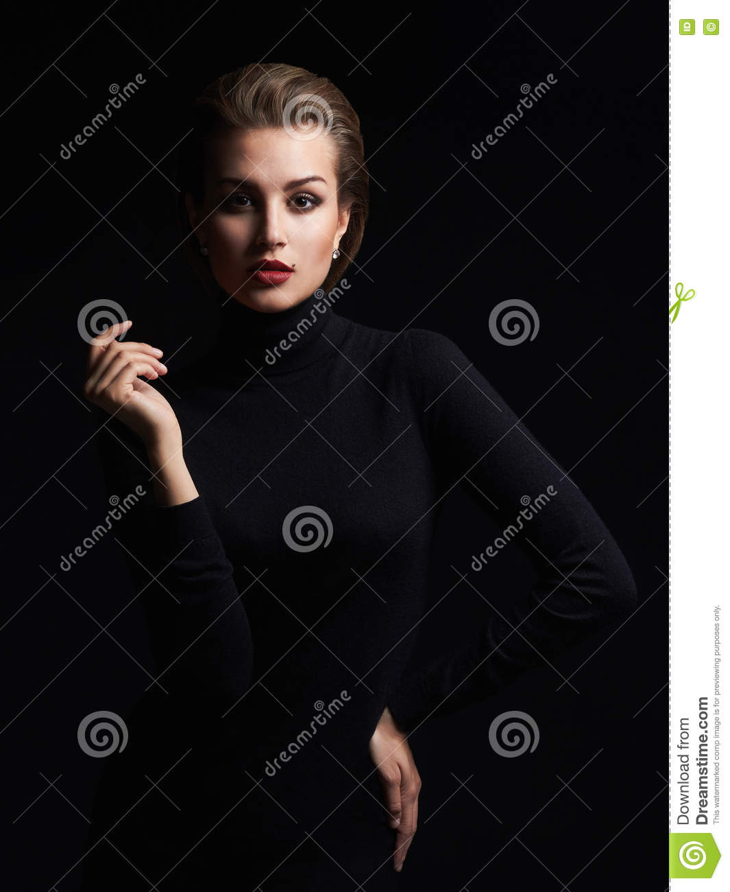 Beautiful Girl With Short Hair Stock Image Image Of Emotion