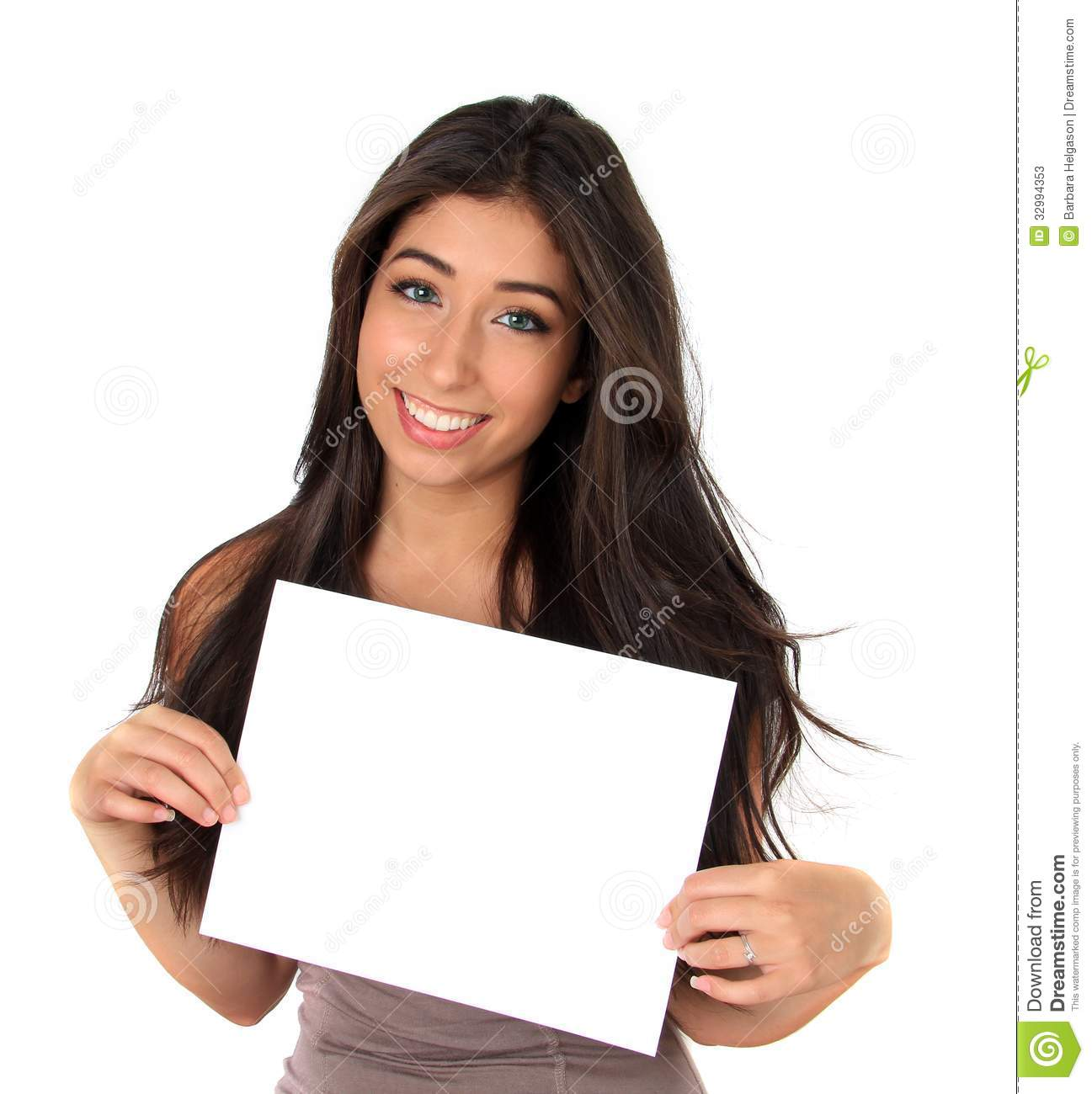 Man Holding Blank Sign For Your Text | Male Models Picture