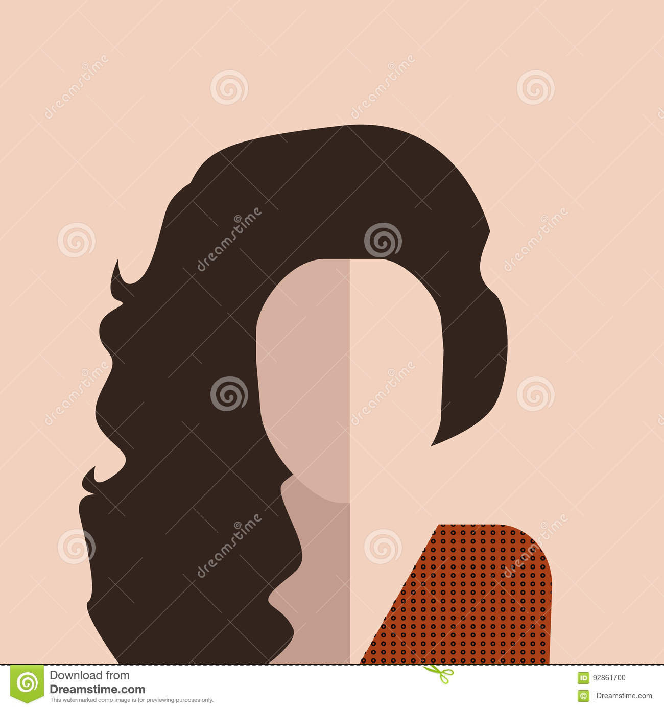Haircut cartoons illustrations vector stock images for Abstract beauty salon