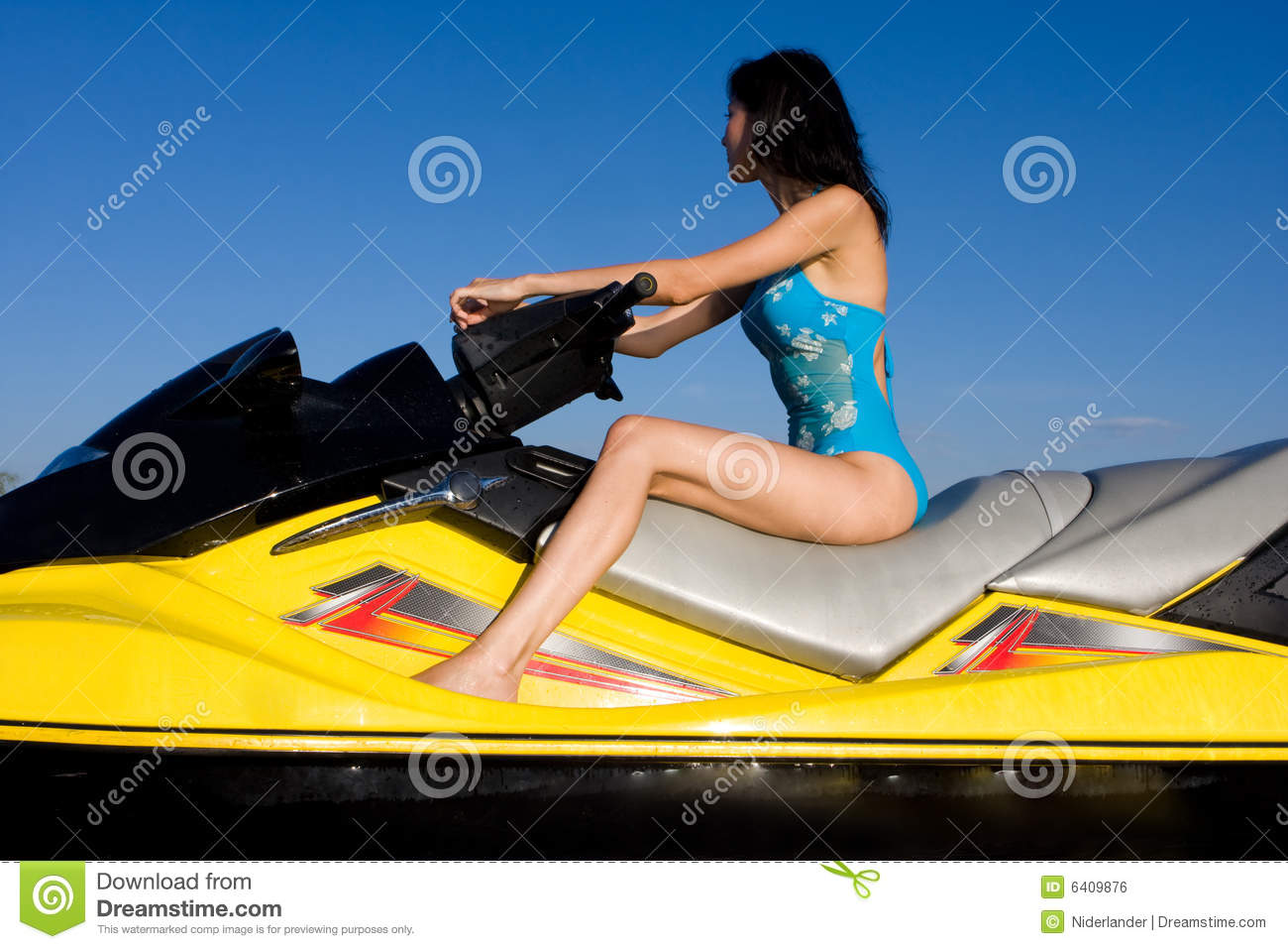 ... Girl Sitting On Jet Ski Royalty Free Stock Image - Image: 6409876