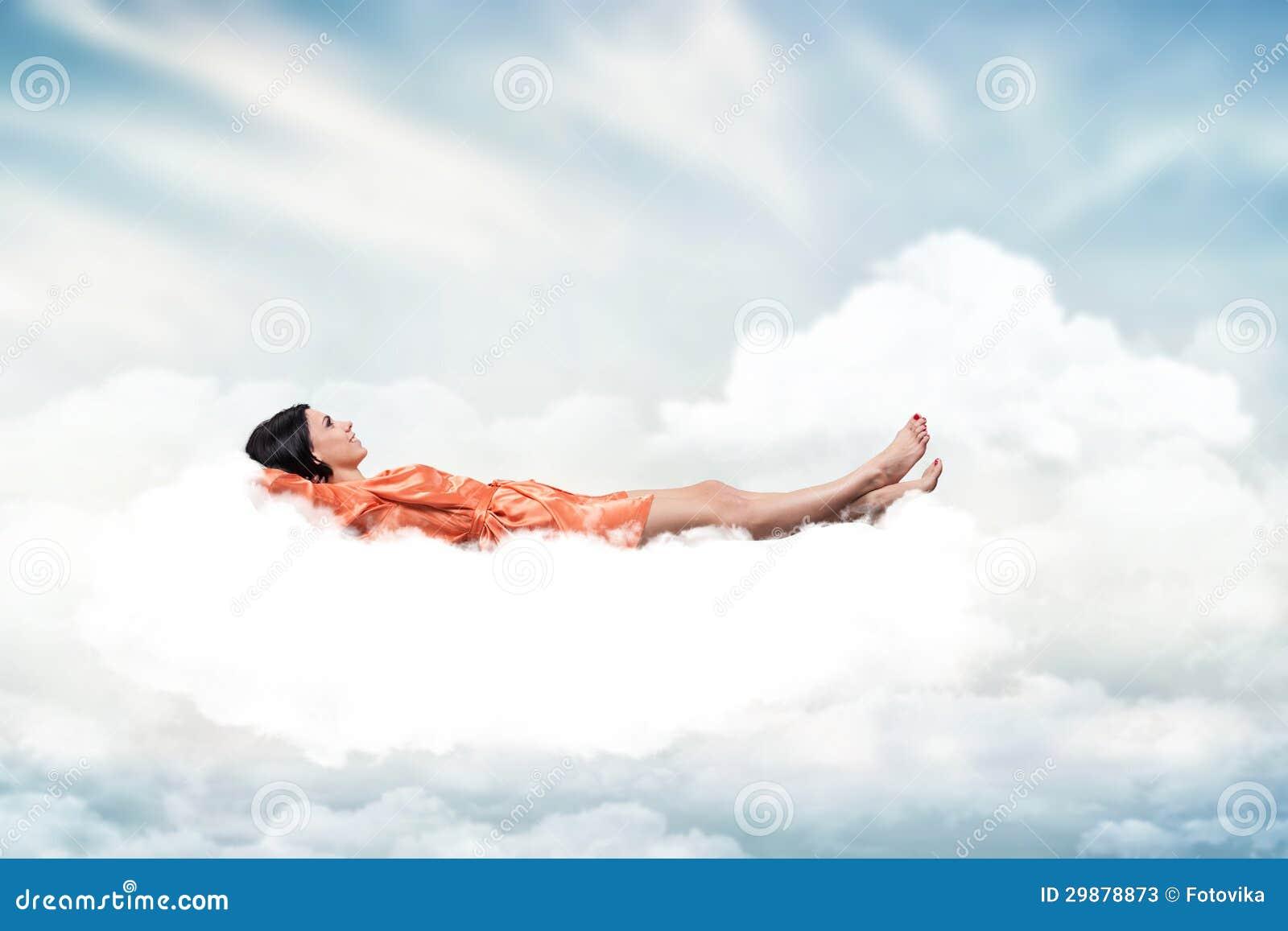 Girl On A Cloud Stock Photos - Image: 29878873