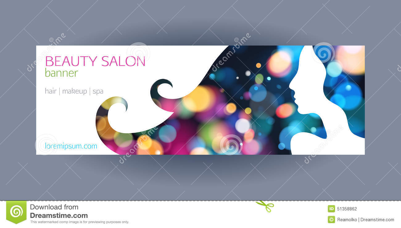 beautiful girl spa salon banner template  stock vector