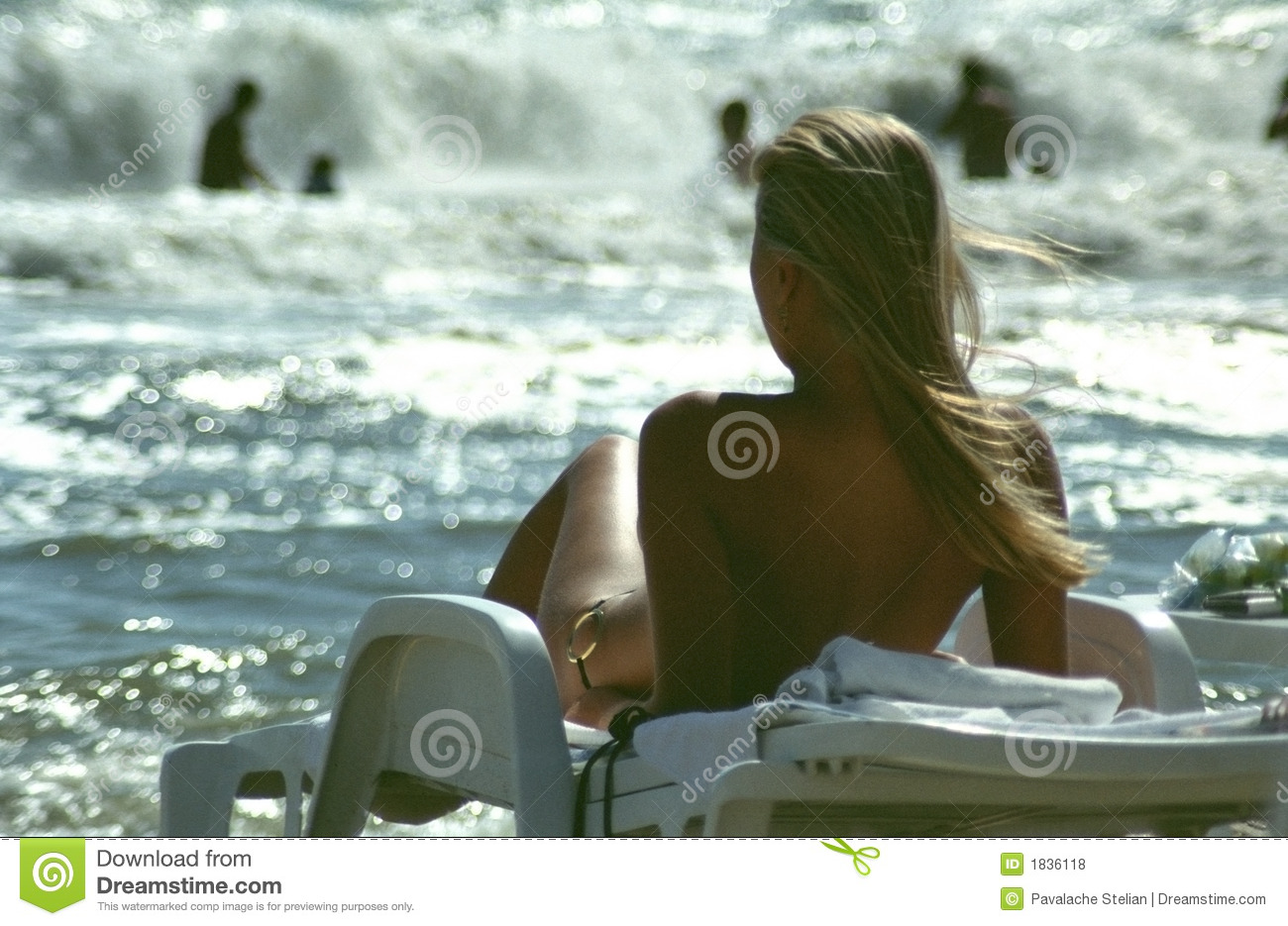 Beautiful Girl Sunbathing Stock Photo Image Of Relaxation