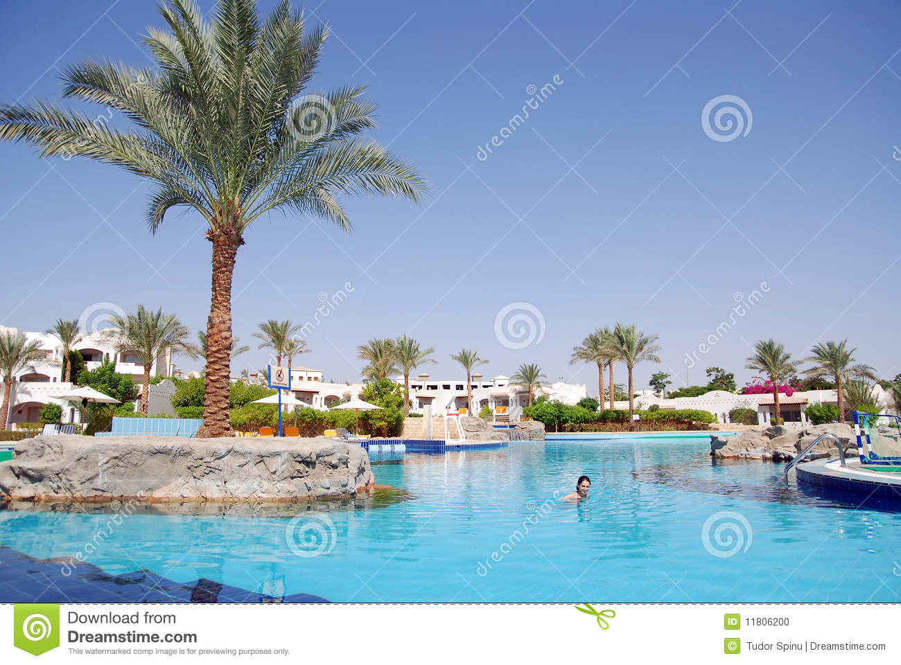 Beautiful girl swimming in the pool stock photo image Swimming pool beautiful