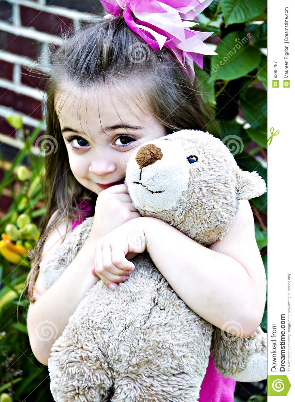 Beautiful Girl With Teddy Bear Royalty Free Stock