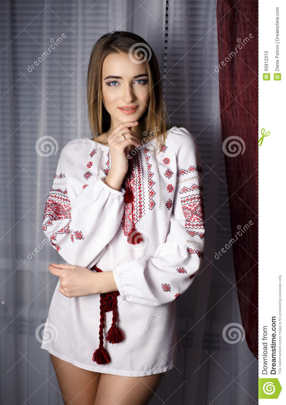 Beautiful Girl In A Ukraine National Dress Stock Image Image Of