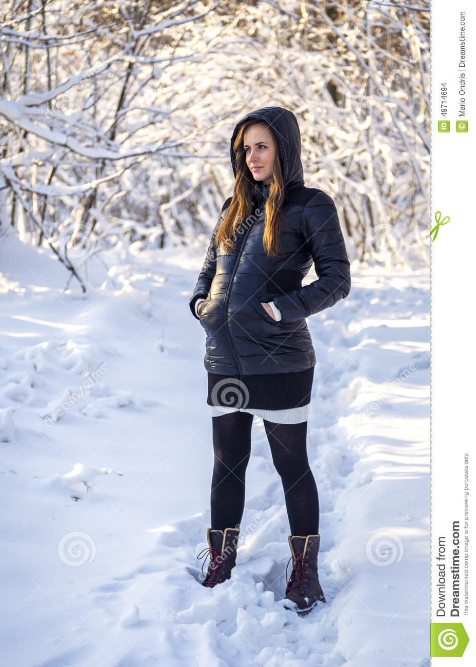 Dreamily Snow Covered Winter Village Stock Photography ...