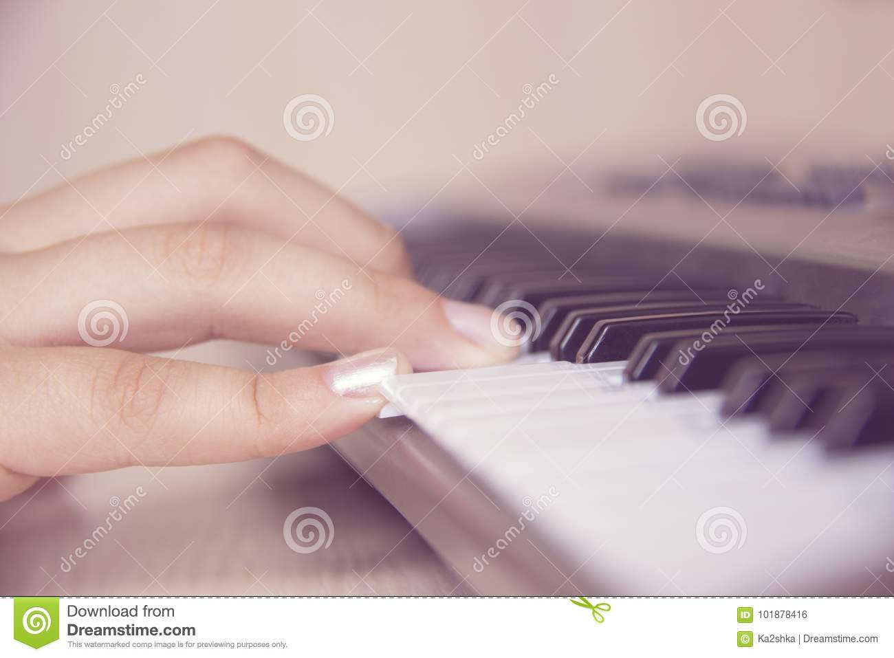 beautiful girls hand playing electronic piano keyboards stock photo image of acoustic. Black Bedroom Furniture Sets. Home Design Ideas