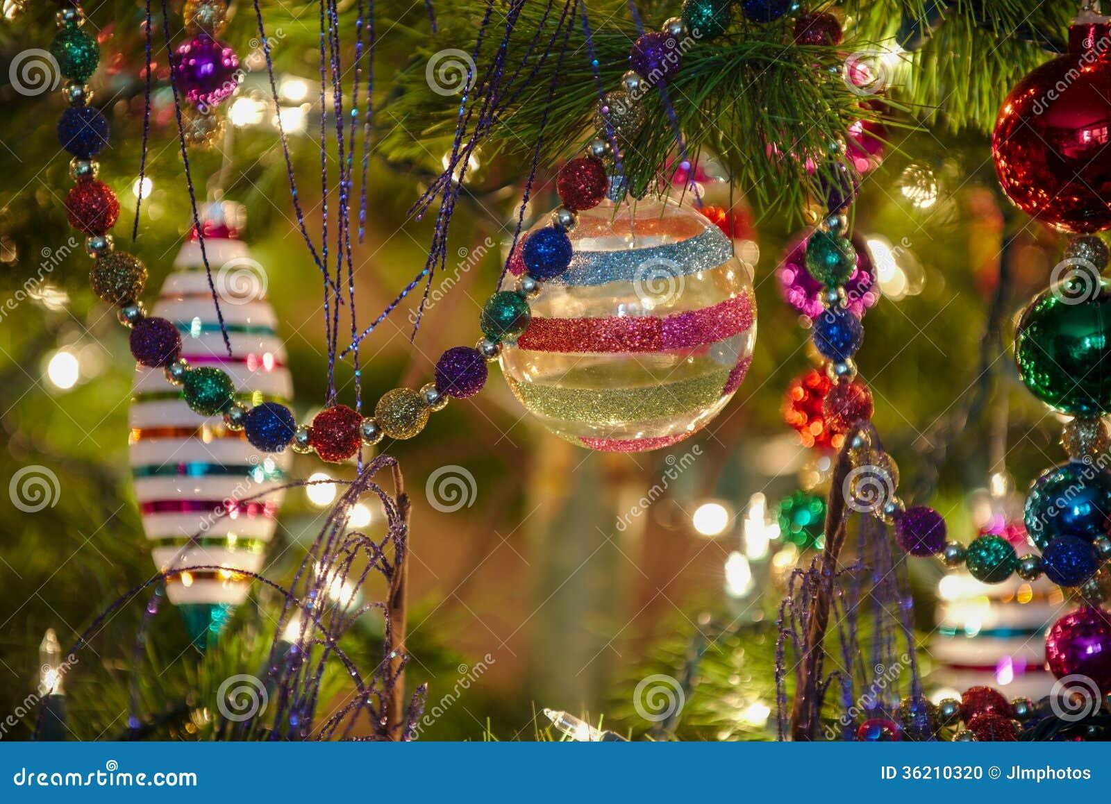 Beautiful Glass Christmas Ornaments Stock Photo Image