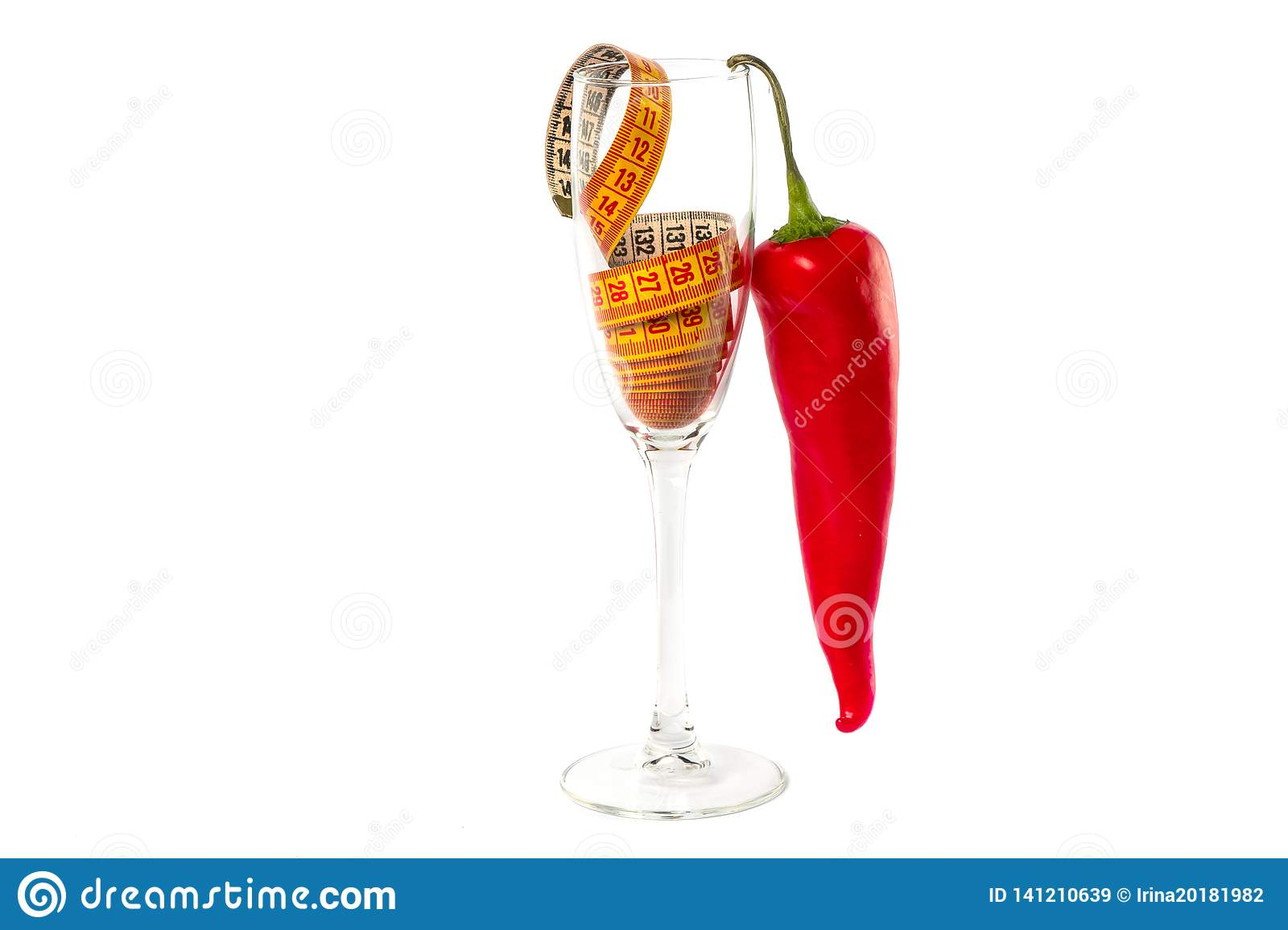 Beautiful glass concept photography diet
