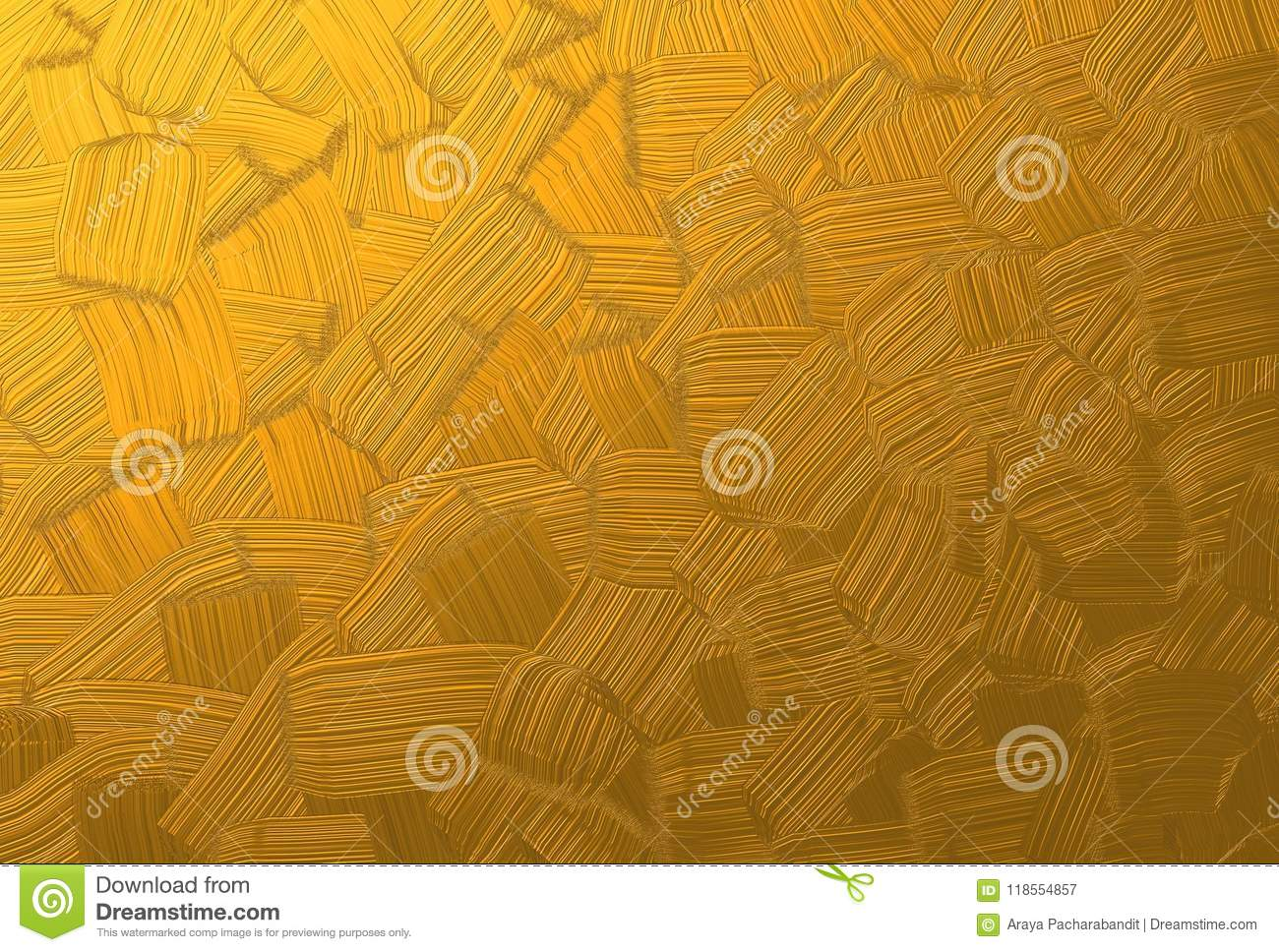 Beautiful Gold Brush Stroke Painting Texture Background Stock