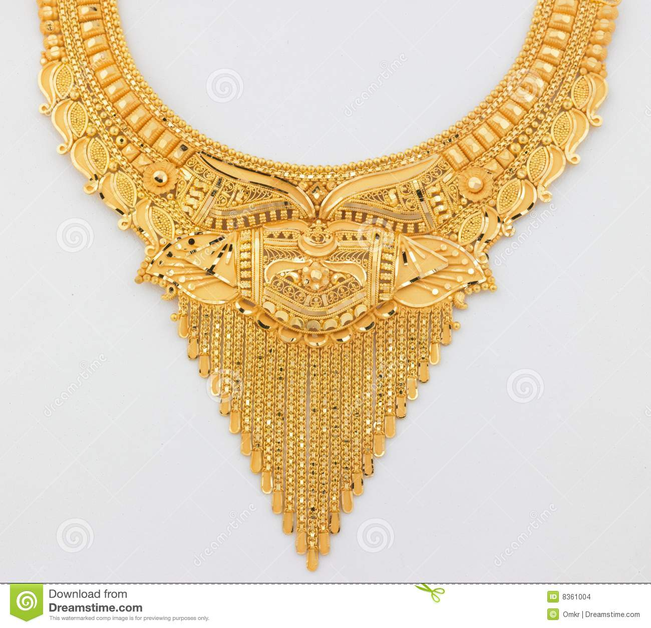 Beautiful gold necklace stock photo. Image of handmade - 8361004