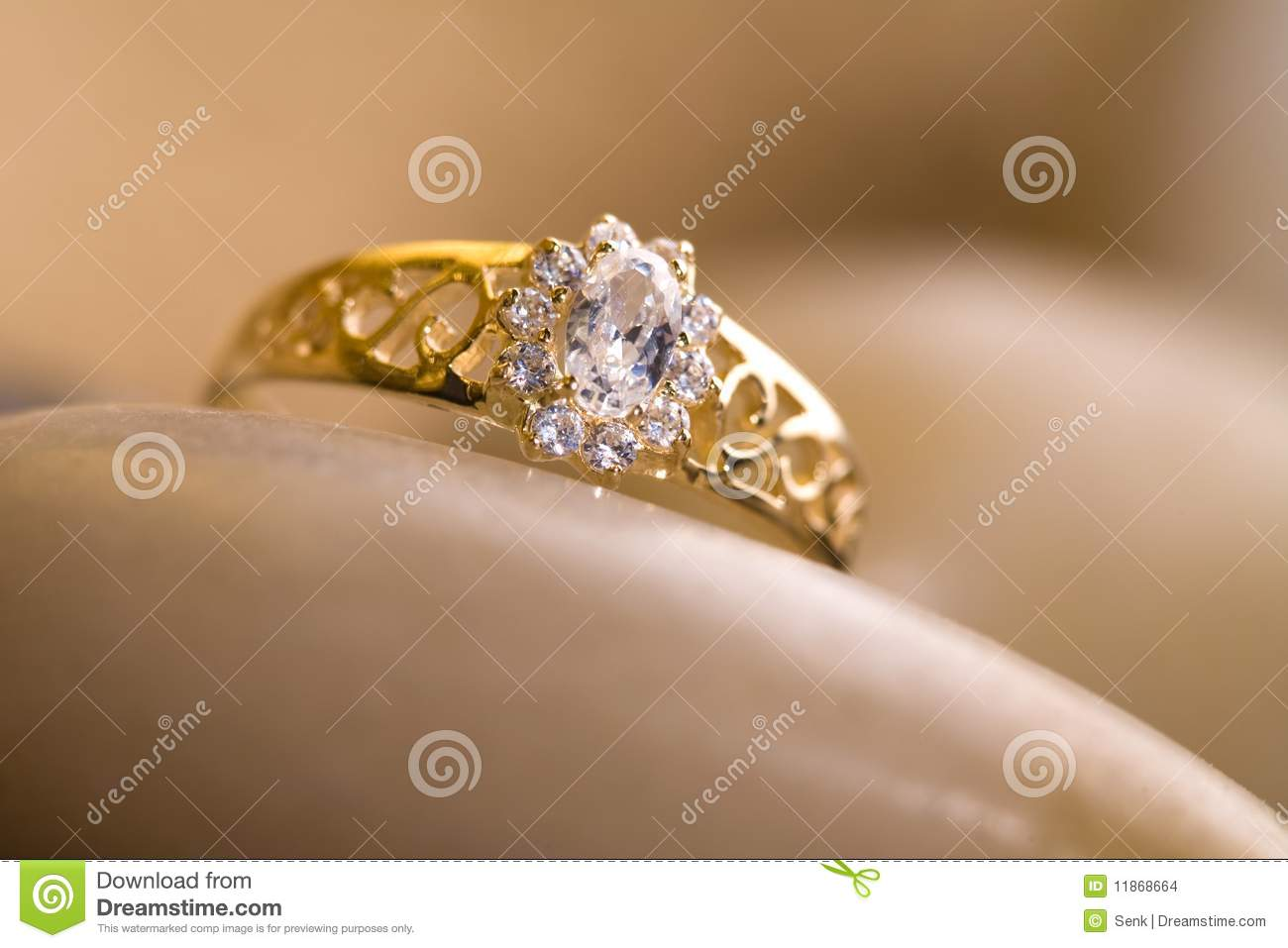 Beautiful gold ring. stock photo. Image of white, gold - 11868664
