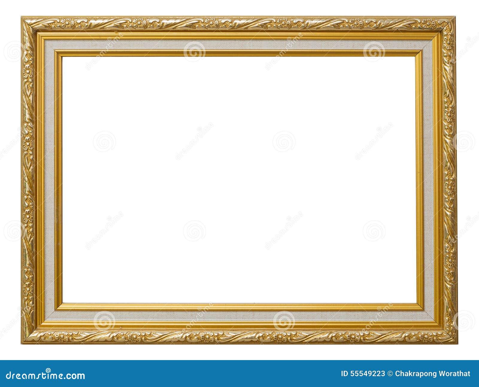 Beautiful Gold Vintage Frame Luxury Isolated White Background. Stock ...