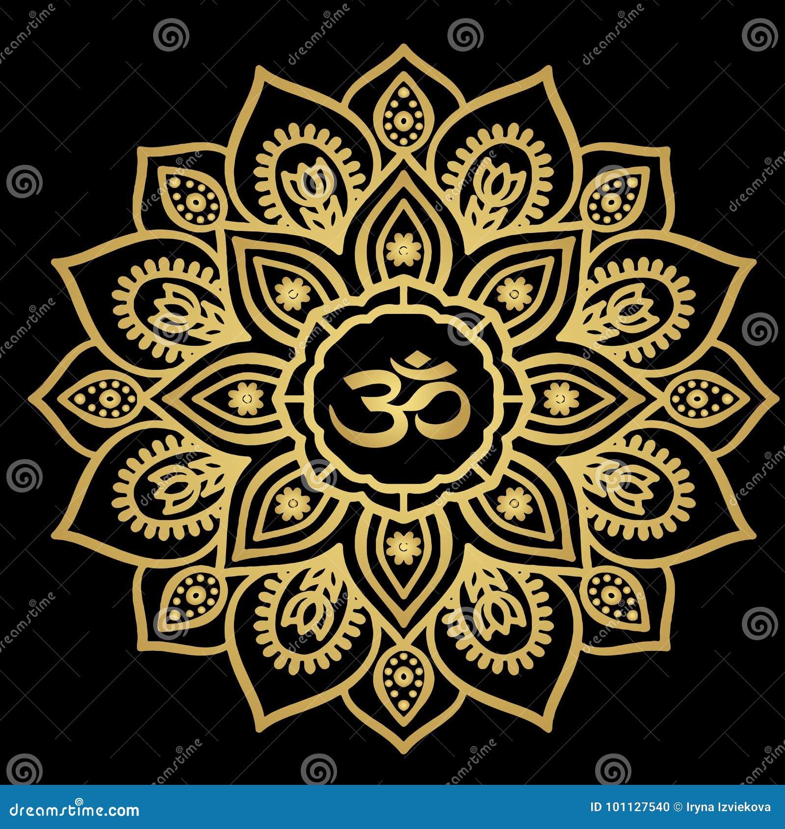 f8c198ded Beautiful Golden Mandala Tattoo Sketch Stock Vector - Illustration ...