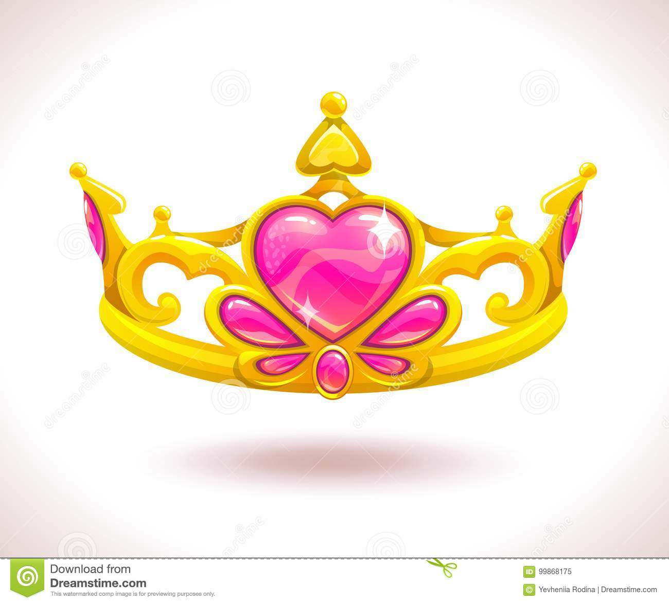 Beautiful Golden Princess Crown Stock Vector Illustration Of Jewelry Heart 99868175 Download and share clipart about cartoon princess crown clip art you can download (5662x3928) cartoon princess crown clip art pencil crown graphic royal art gallery animal art deco luxury pop art fantasy art design symbol element cute ancient isolated princess castle jewelry kids king crown. https www dreamstime com beautiful golden princess crown pink ruby hearts vector cartoon diadem icon image99868175
