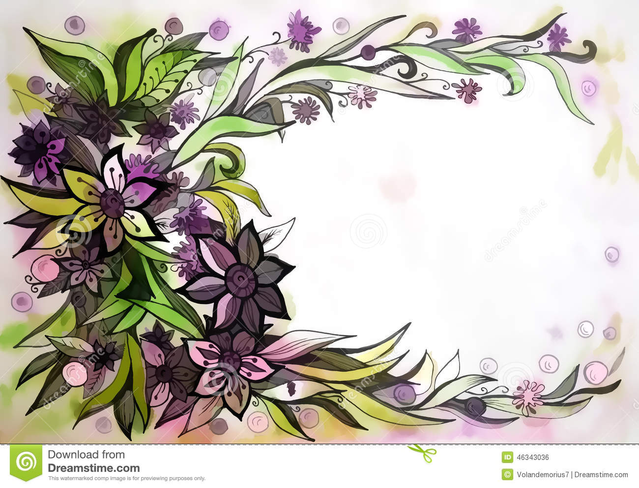 Beautiful graphic drawing of flowers stock illustration beautiful graphic design of flowers on watercolor background izmirmasajfo