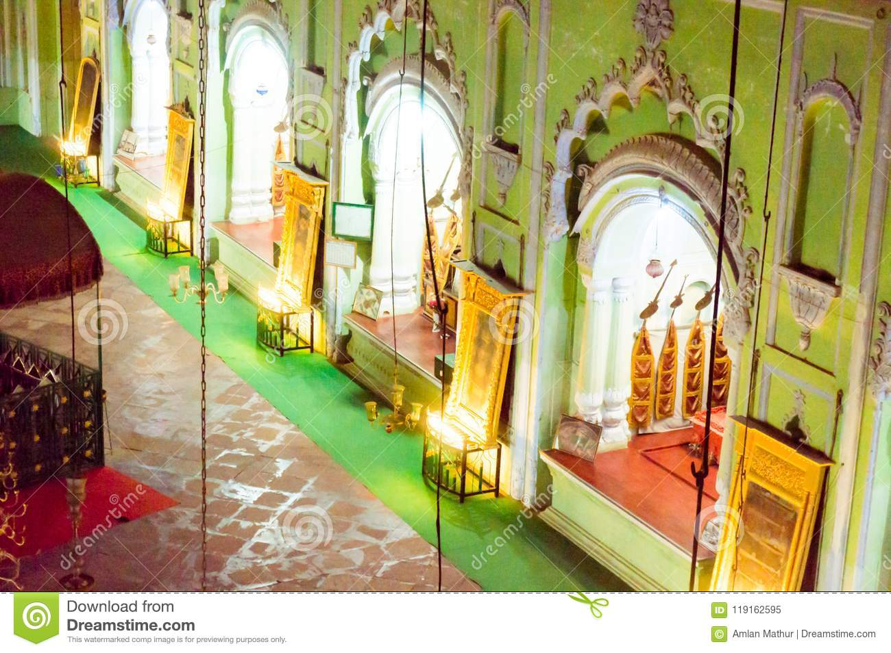 Inside of the bhool bhulaiya complex in bara imambara lucknow