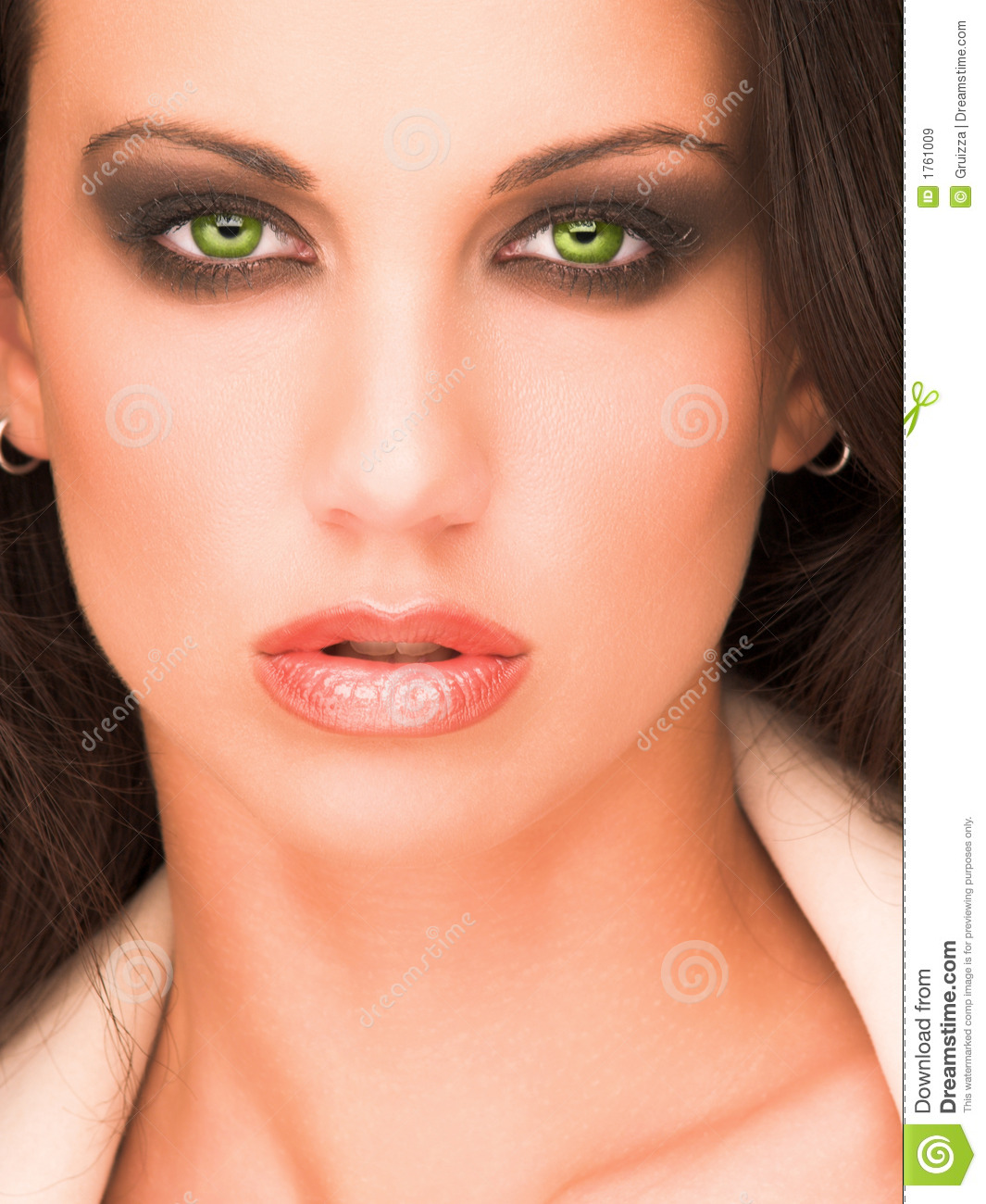 Beautiful Green Eyes Girl Royalty Free Stock Images ... - photo#28