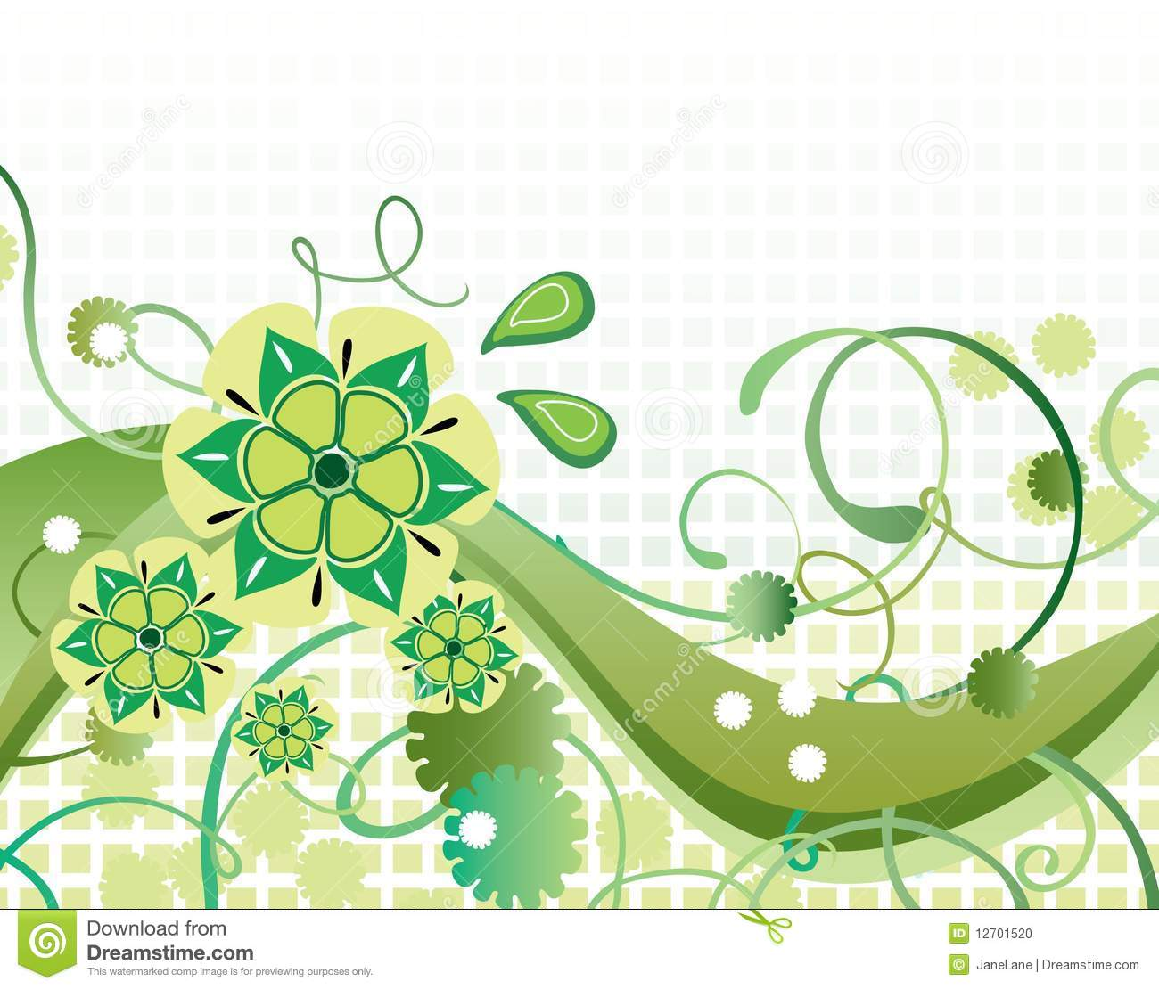 beautiful green background stock illustration. image of decoration, Powerpoint templates
