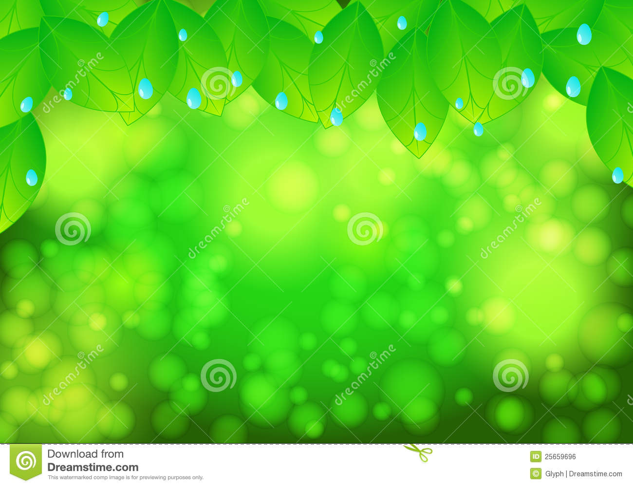 beautiful green nature background stock vector - image: 25659696, Powerpoint templates